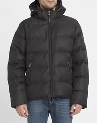 Pyrenex Grey Streaked Spoutnic Removable Hood Down Jacket