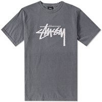 Stussy Pigment Dyed Stock Tee Black