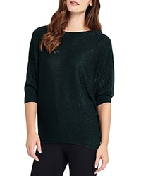 Phase Eight Becca Shimmer Batwing Sweater Forest