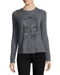 Zadig And Voltaire Beaded Skull Cashmere Sweater Black