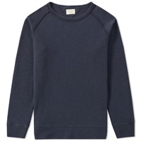 Nudie Jeans Diego Overdyed Crew Sweat Blue