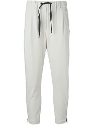 Brunello Cucinelli Zip Detail Track Pants Nude And Neutrals