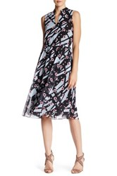 Anne Klein Floral Print Midi Dress Multi