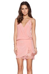 Mason By Michelle Mason Wrap Mini Dress Pink