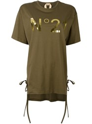 N 21 No21 Front Logo T Shirt Green