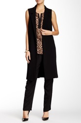 Daniel Rainn Long Vest Black