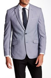 Kenneth Cole Reaction Blue And White Birdseye Two Button Notch Lapel Jacket