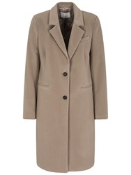 Oui Crombie Style Coat Taupe