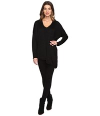 Nydj Shinner Asymmetric Sweater Black Women's Sweater