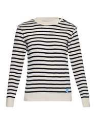 Orcival Crew Neck Striped Wool Sweater