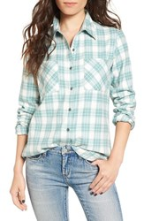 Rip Curl Women's Nightwatch Flannel Shirt Turquoise