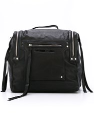 Mcq By Alexander Mcqueen Embossed Logo Box Backpack Black