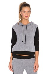 Solow Sherpa Hoodie Charcoal