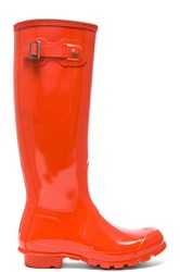 Hunter Womens Original Tall Gloss Boot Red