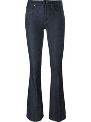 Victoria Beckham Flared Mid Rise Jeans Blue