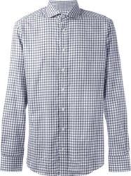 Hackett Checked Button Down Shirt Grey