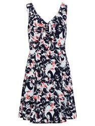 Sugarhill Boutique Poppy Floral Bow Dress Navy Pink