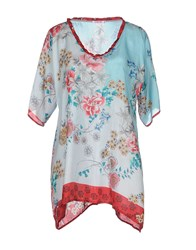 Johnny Was Shirts Blouses Women Sky Blue