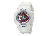 G Shock Ba112 White W Multicolor Dial Watches Red