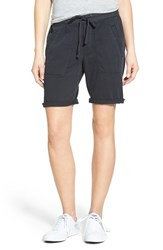 Women's James Perse Stretch Twill Drawstring Shorts Carbon Pigment