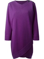 Yves Saint Laurent Vintage Oversized Shift Dress Pink And Purple