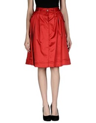 Dandg D And G Knee Length Skirts Red