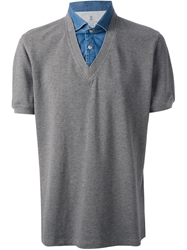 Brunello Cucinelli Short Sleeve Sweater Grey