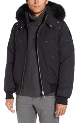 Moose Knuckles Men's 'Ballistic' Bomber Jacket With Genuine Fox Fur Trim