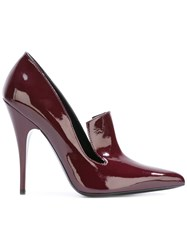 Versus Loafer Style Pumps Red
