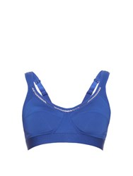 Adidas By Stella Mccartney Performance Sports Bra Blue