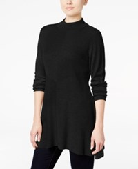 Styleandco. Style Co. Mock Turtleneck Ribbed Sweater Only At Macy's Deep Black