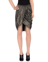 Soallure Knee Length Skirts Bronze
