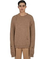 J.W.Anderson Thick Laddered Knit Sweater Brown