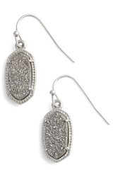 Women's Kendra Scott 'Lee' Small Drop Earrings Platinum Drusy Silver