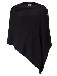 Phase Eight Cashmere Blend Button Wrap Black