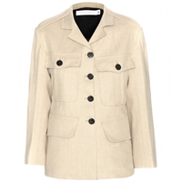 Victoria Beckham Jute And Silk Blend Jacket