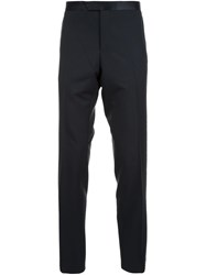Lanvin Contrast Waistband Tailored Trousers Black
