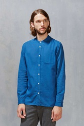 Cpo Stevens Mandarin Button Down Shirt Blue