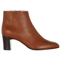 Hobbs Ondine Leather Ankle Boots Dark Tan