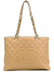 Chanel Vintage 'Gst' Tote Nude And Neutrals