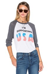 Wildfox Couture Athletic Supporter Tee White