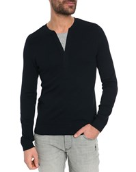 Ikks Knitted Navy Sweater