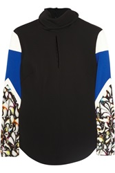Peter Pilotto Caio Printed Stretch Crepe Top