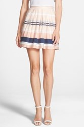 Chelsea 28 Pleated Stripe Skirt Pink