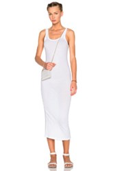 James Perse Long Slip Dress In White