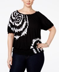 Inc International Concepts Plus Size Tie Dyed Peasant Top Only At Macy's Decorative Tie Dye