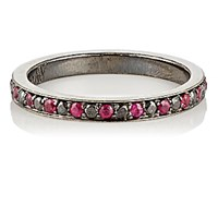 Ambre Victoria Women's Pave Diamond And Ruby Band No Color