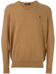 Polo Ralph Lauren V Neck Sweater Nude And Neutrals
