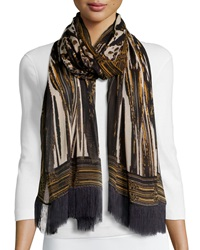 Sam Edelman Stained Glass Oblong Scarf Black