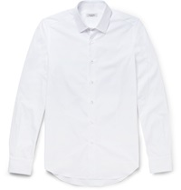 Valentino Slim Fit Cotton Poplin Shirt White